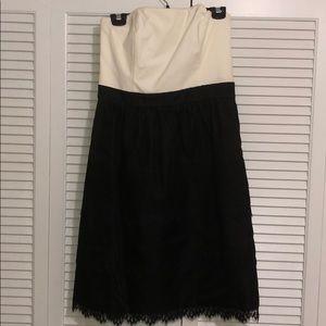 Strapless dress lace bottom